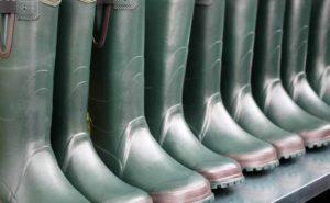 Botas de goma vestuario laboral
