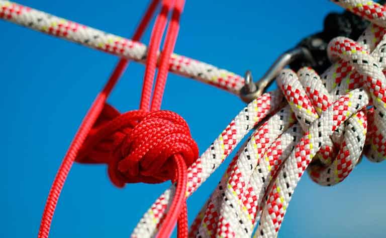 cuerda y cabo efectos navales del barco