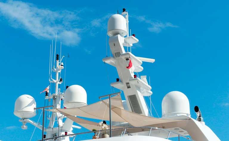 radar buque material de puente
